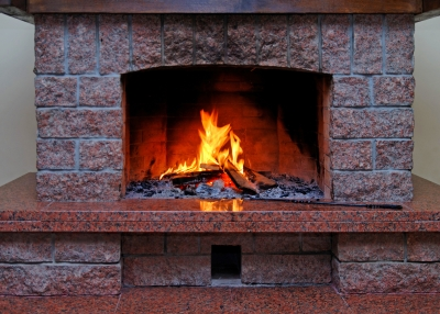 old stone fireplace.  How to Clean your Stone Fireplace