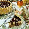Frozen Chocolate Peanut Butter Ribbon Cake