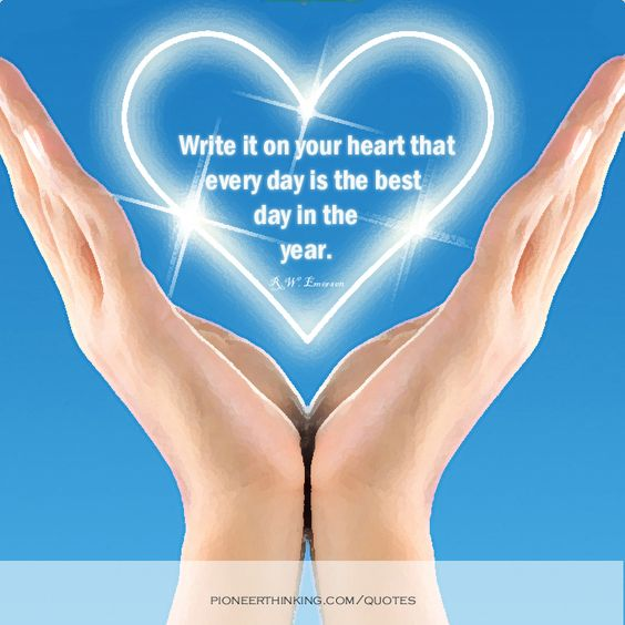 Write it on Your Heart - R.W. Emerson