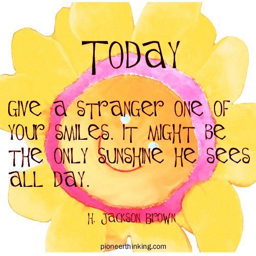 Give a Stranger a Smile - H. Jackson Brown, Jr.