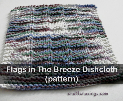 Flags in the Breeze Dishcloth (Pattern)