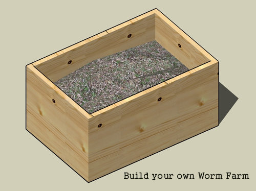 Build your own worm farm vermicomposting step by step for Build your own farmhouse