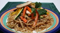 Whole-Wheat Pasta with Zucchini, Mushrooms and Basil