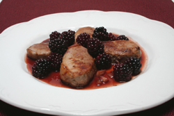 Pork Medallions with Blackberry Pan Sauce