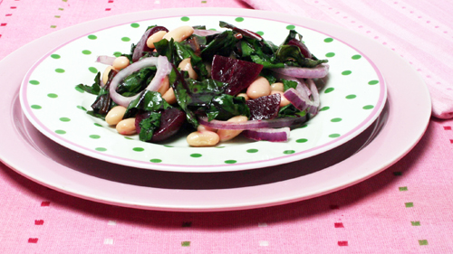 Beet and Cannellini Bean Salad