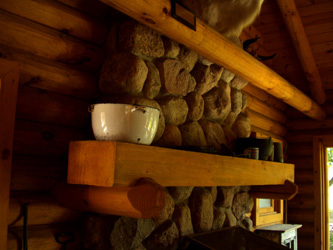 Creative Ideas for Adding Color to Natural Log Walls