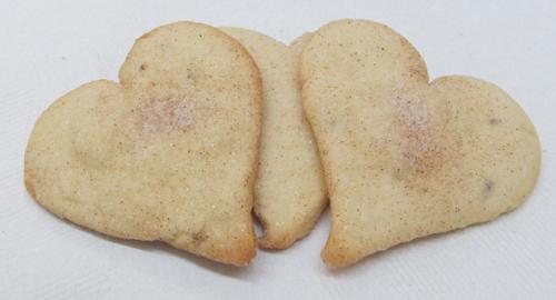 Lavender Heart Cookies
