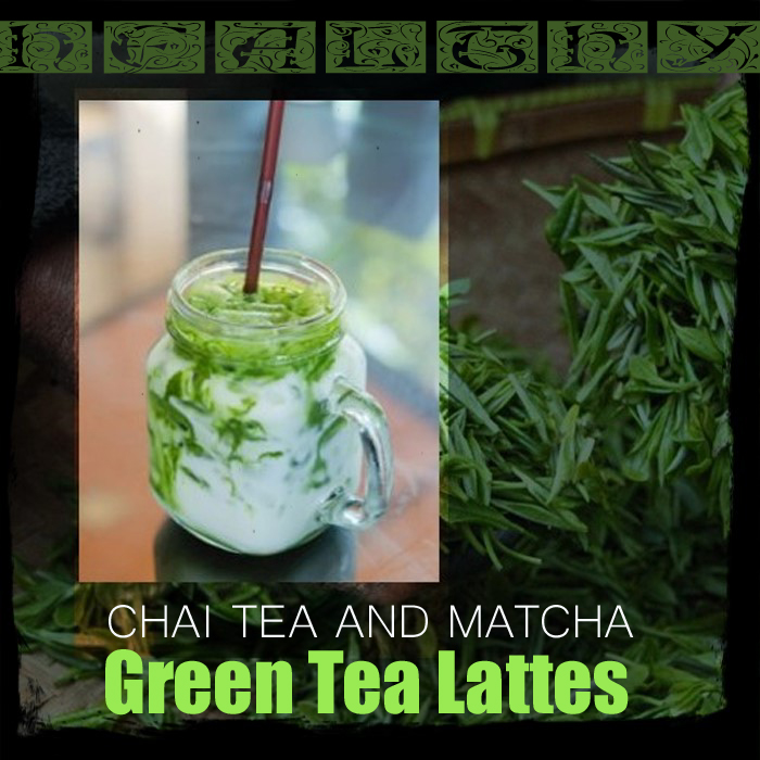 Healthy Latte Recipes for Chai Tea and Matcha Green Tea Lattes