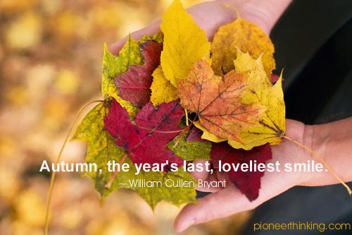 Autumn Smile - William Cullen Bryant