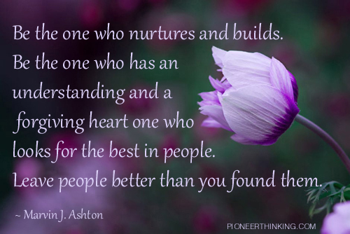 Be The One - Marvin J. Ashton