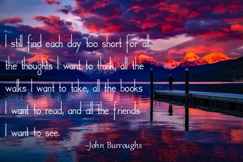 I Still Find Each Day Too Short - John Burroughs