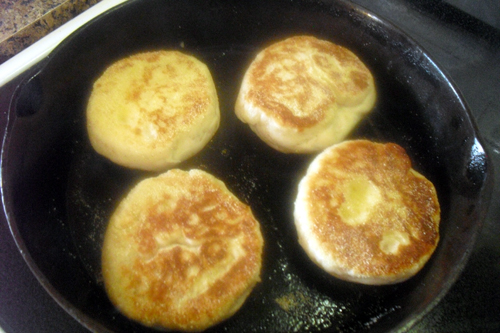 Frying English Muffins