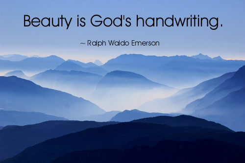 God's Handwriting - Ralph Waldo Emerson