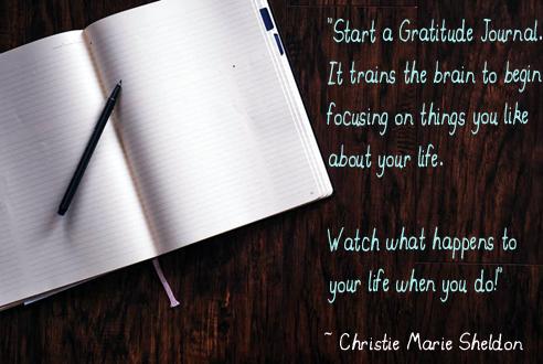 Start a Gratitude Journal - Christie Marie Sheldon