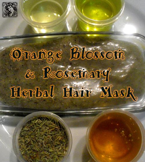Orange Blossom & Rosemary Herbal Hair Mask