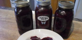 Ruby Red Pickled Beets