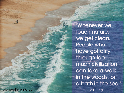 Whenever We Touch Nature - Carl Jung
