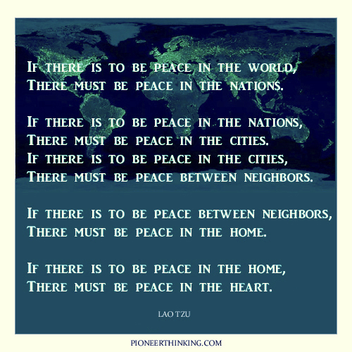 Peace in The World - Lao Tzu
